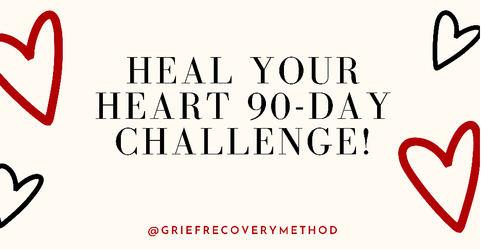 Heal your Heart 90 day Challenge Grief Recovery Method Loss Online Group