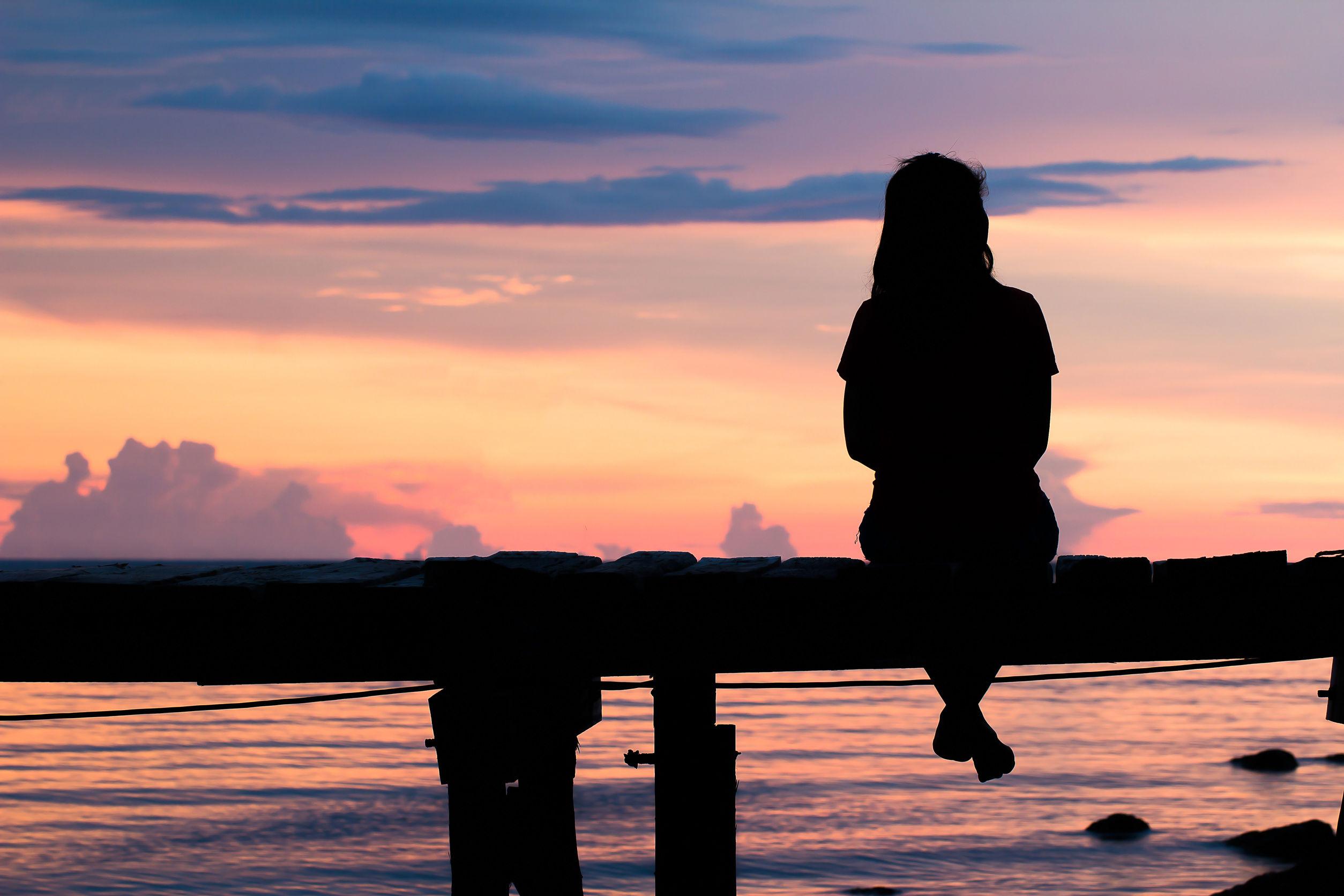 Зима, картинки одинокая женщина одиночество