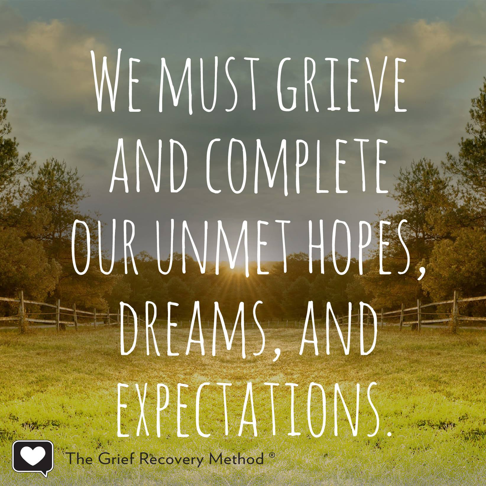 regret grief unmet hope dream complete