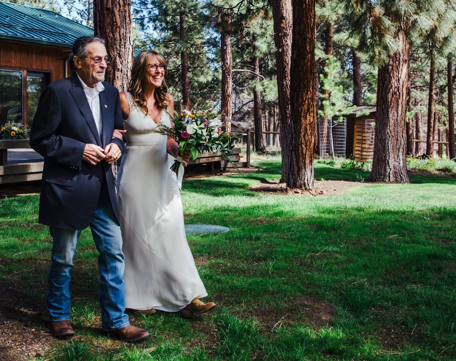 john james and daughter allison james-henry at her wedding sisters oregon