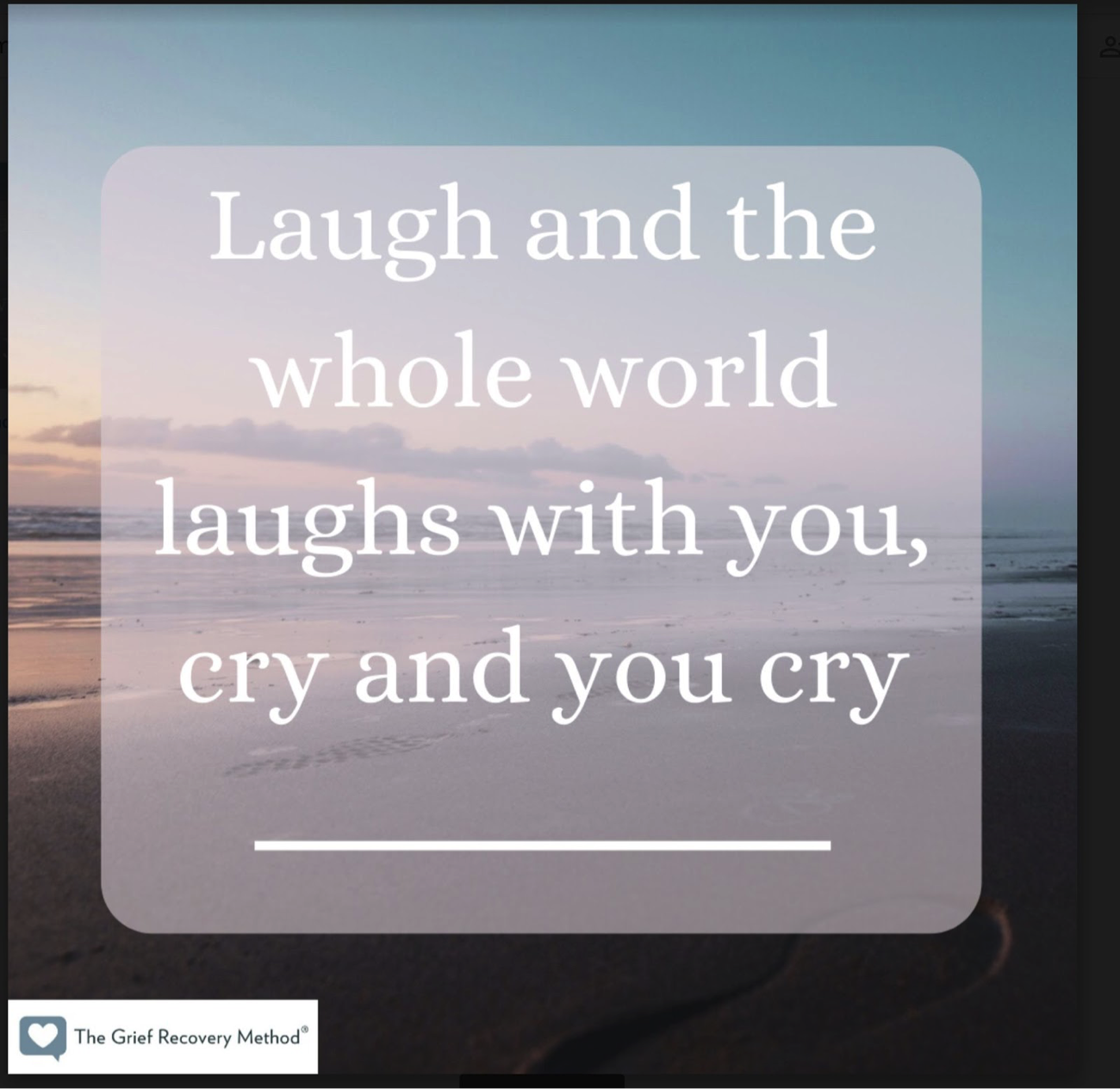 laugh and world laughs with you cry and you cry alone